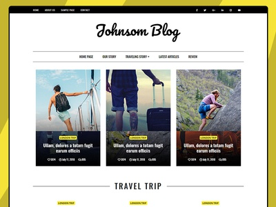 Blog and Magazine Website Template