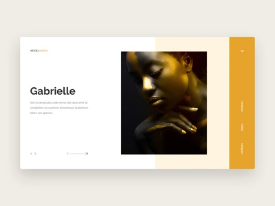 Fashion model awards landing page design