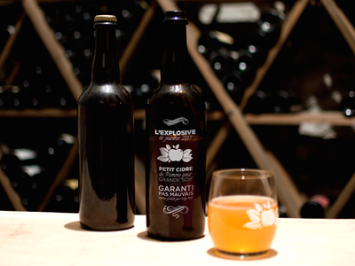 Petit Cidre De Pomme bottle wine cider serigraphy design packaging