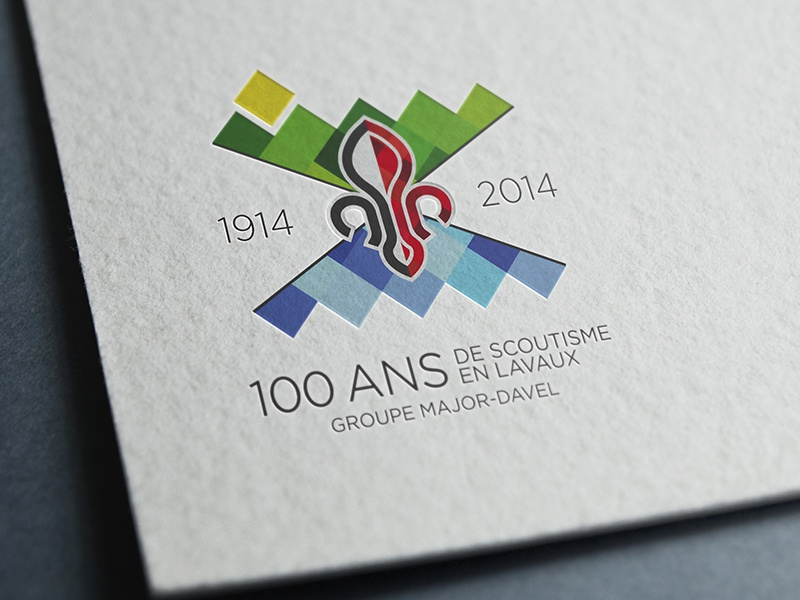 Logo 100eme anniversary scout   logo anniversary 100 scout