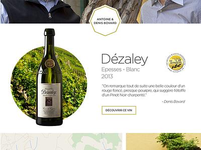 Domaine Bovard Lavaux - Dézaley wine ecommerce design web identity
