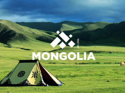 Travel in Mongolia mongolia identity travel logo logotype