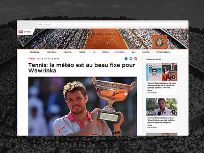 RTS sport swiss design web