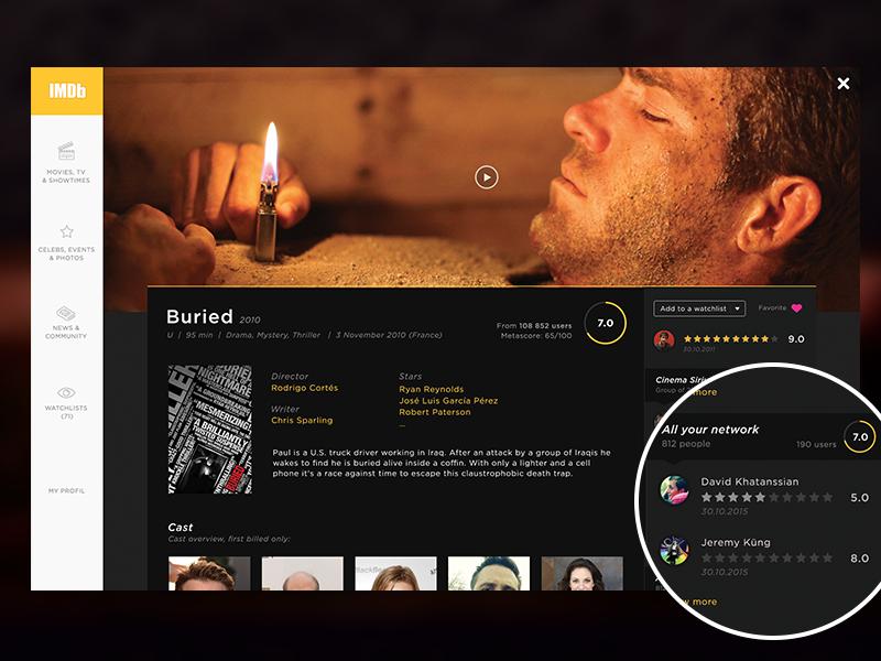 Imdb redesign dark webdesign redesign