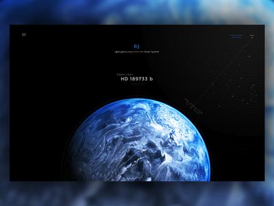 HD 189733 b - Exoplanet hubble design astronomy web