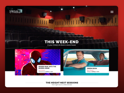 The biggest of smallest cinemas web branding photography minimal popcorn swiss webdesign cinema flat ux ui