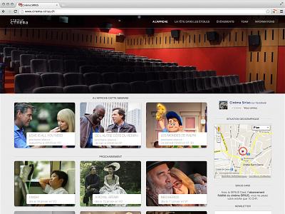 Cinema Sirius Homepage web webdesign