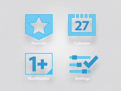 Icons icon ui light flat button interface minimal mobile web simple illustrator
