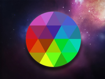 Faceted Beach Ball icon flat graphic design ui user interface geometrical facet vector photoshop