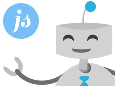 Jobsuitors Mascot vector illustration illustration vector robot mascot tie happiness branding brand logo