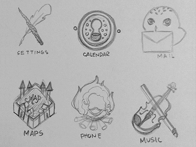 Harry Potter Icons wip sketch illustration harry potter icon icons mobile web design