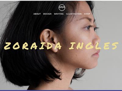 Zoraida Ingles - Portfolio web design logo visual design ux ui identity branding illustration portfolio