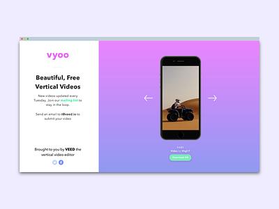 vyoo video videos os apple ux ui mockup mobile iphone x ios