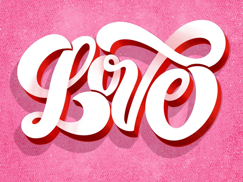 Love design type typography hand lettering hand-lettering lettering