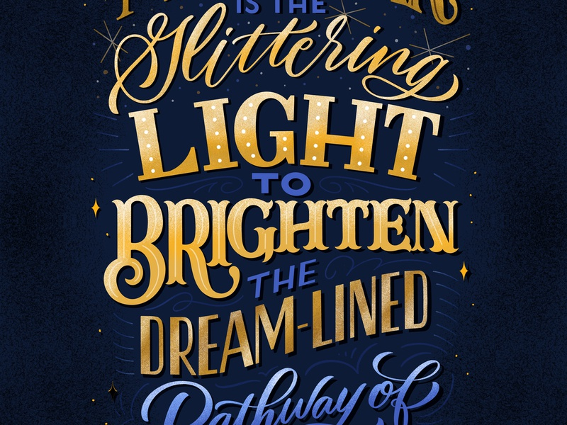 New Year Light quote design quote new year card greeting card illustration design type typography hand lettering hand-lettering lettering
