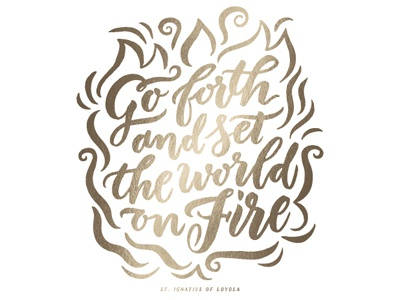 Go Forth gold motivational inspirational typography type quote hand-lettering lettering