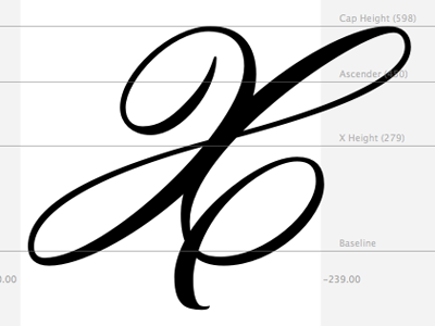 Capital X, In-progress Typeface