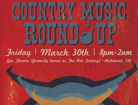 Country Round Up Poster Design