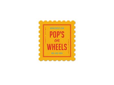 Pop's on Wheels Stamp