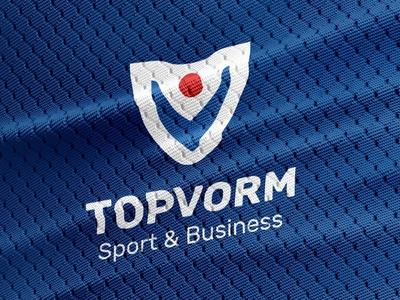 Topvorm Branding fitness corporate brand badge abstract branding icon design logo