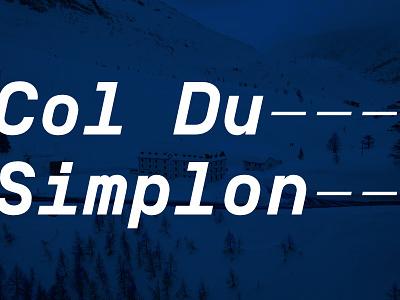 Typography Explorations II design typography branding typeface swiss simplon creative lettering letter