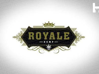 Royale Hemp Vector Logo Template cannabis logo cannabis branding royal royale cannabis weed 420 vintage template logo