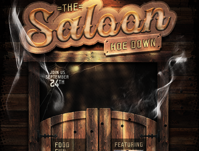Western Saloon Flyer Template Set antique party template flyer gold western distressed grunge vintage