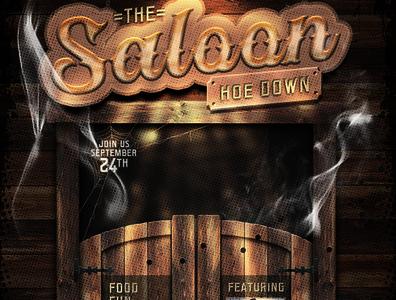 Western Saloon Flyer Template Set