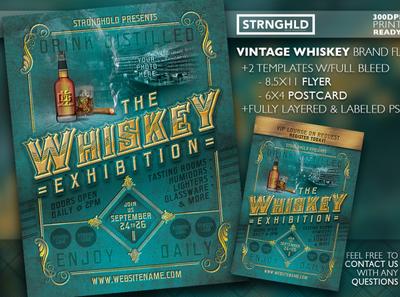 Vintage Whiskey Flyer Template Set