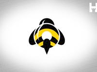 Bumble Bee Vector Logo Template