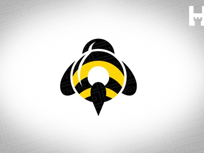 Bumble Bee Vector Logo Template minimallogo bumblebee bee vector branding gold design template logo