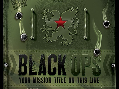 vintage black ops military flyer template by stronghold dribbble