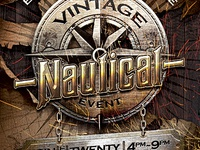 Vintage Nautical Travel Flyer Template