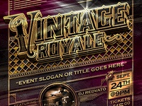 Vintage Royal Gold Event Flyer Template