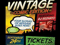 Vintage Comic Book Event Flyer Template