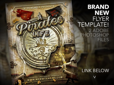 pirates life flyer template antique design pirate gold flyer distressed template grunge vintage