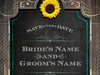 Western Save The Date Wedding Flyer Template By Stronghold Dribbble