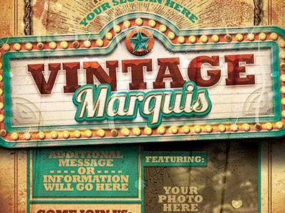 Vintage Marquis Sign Flyer Template