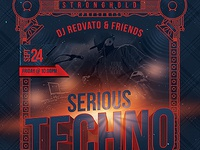 Serious Techno Nightclub Event Flyer Template