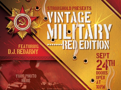 Vintage Russian Military Style Event Flyer By Stronghold Dribbble