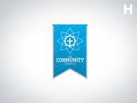 Community Church Vector Logo Template