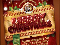 Vintage Christmas Flyer Template
