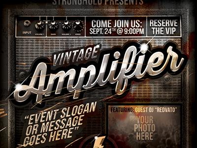 Vintage Amplifier Event Flyer