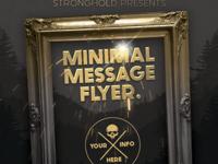 Vintage Gold Frame Event Flyer