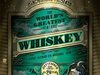 Vintage Whiskey Flyer Template