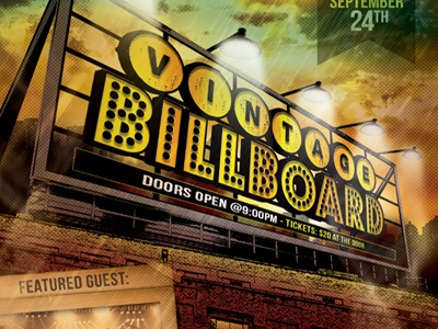 Vintage Billboard Flyer Template