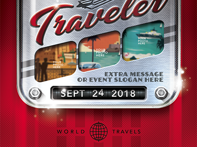 Retro Travel Event Flyer Template