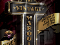 Vintage Movie Marquis Flyer Template