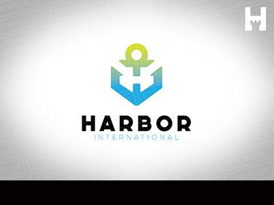 Anchor Logo Template branding brand logo thick crisp colorful minimal clean stylish bold anchor