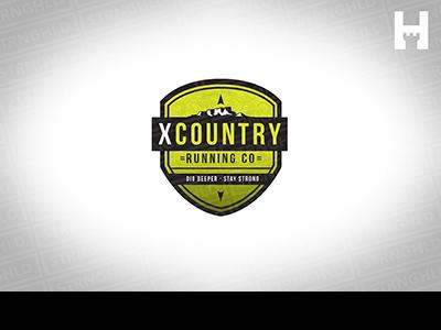 Running Company Logo Template mountain runners running trail minimal logo